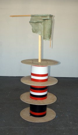 Wood, fibreglass, tape