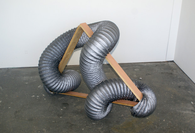 Ducting, wood, paint.