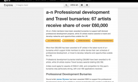 Bursary: a-n Professional Development